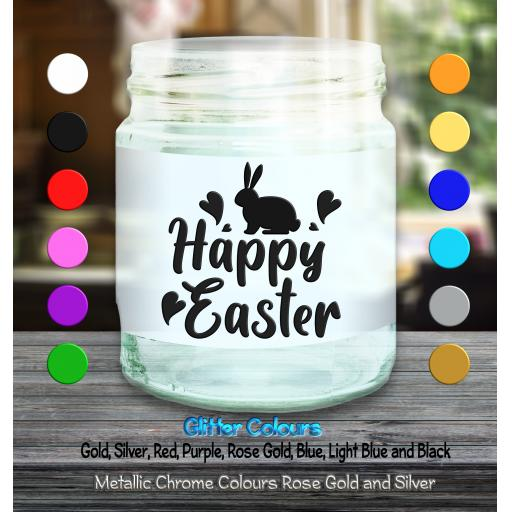 Happy Easter Candle Decal / Sticker / Graphic