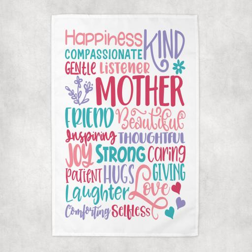 Mother Words Tea Towel