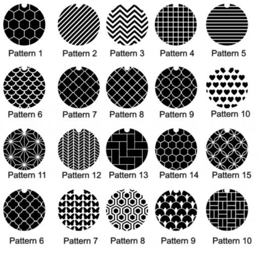 Initial Name Vinyl Patterns for Keyring