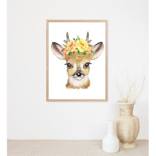 Deer Flower Print