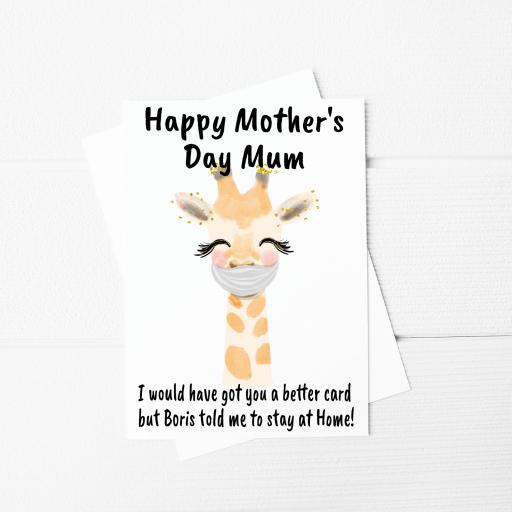 I would have got you a better card Giraffe Funny Mothers Day A5 Card & Envelope