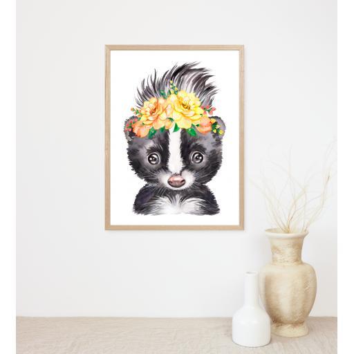 Skunk Flower Print