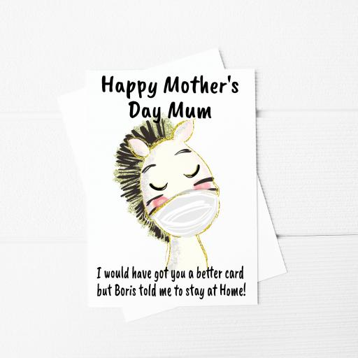 I would have got you a better card Zebra Funny Mothers Day A5 Card & Envelope