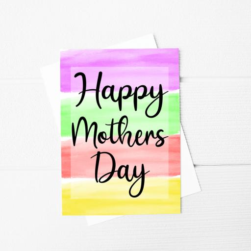 Happy Mothers Day A5 Card & Envelope