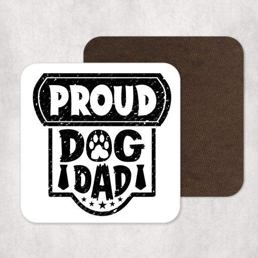 Proud Dog Dad Coaster