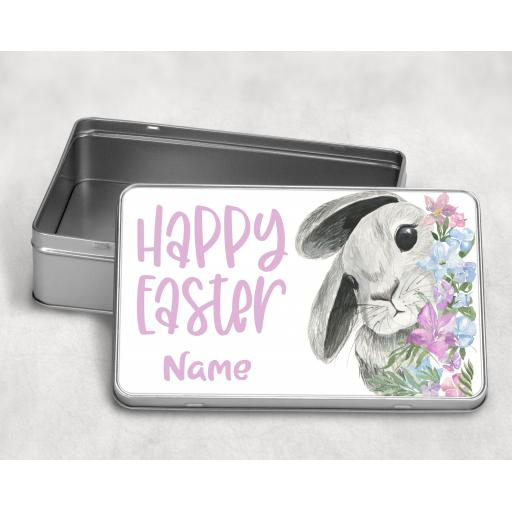 Happy Easter Personalised Metal Tin