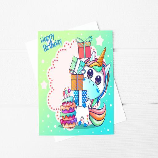 Happy Birthday Unicorn A5 Card & Envelope
