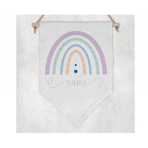 Rainbow Name Flag / Pennant