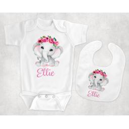 pink elephant BabyBodysuitandBib.png