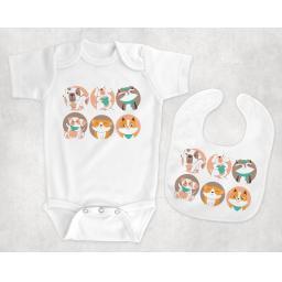 six baby animals BabyBodysuitandBib.png