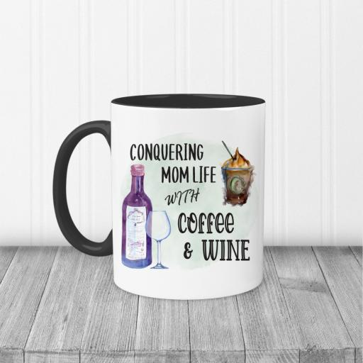 Conquering Mom Life with Coffee and Wine Mug