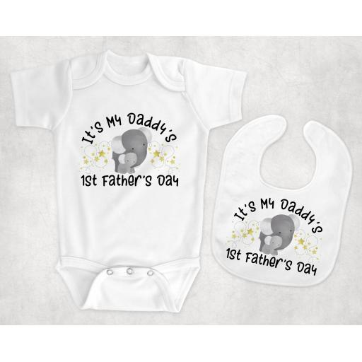 It's My Daddy's 1st Father's Day Baby Clothing