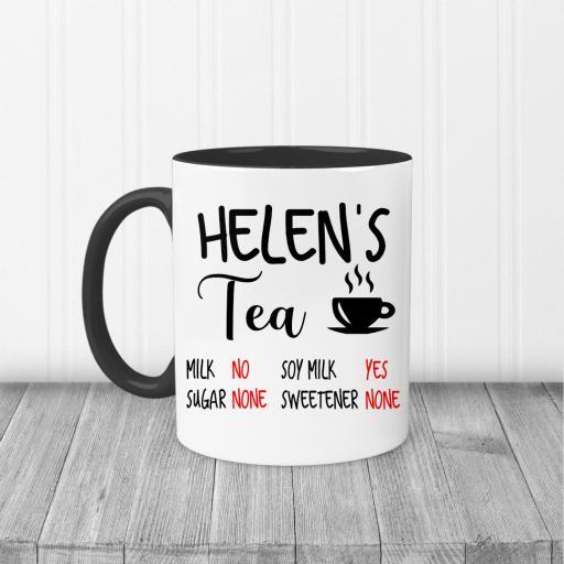 Personalised Name and Drink Ingredients Mug