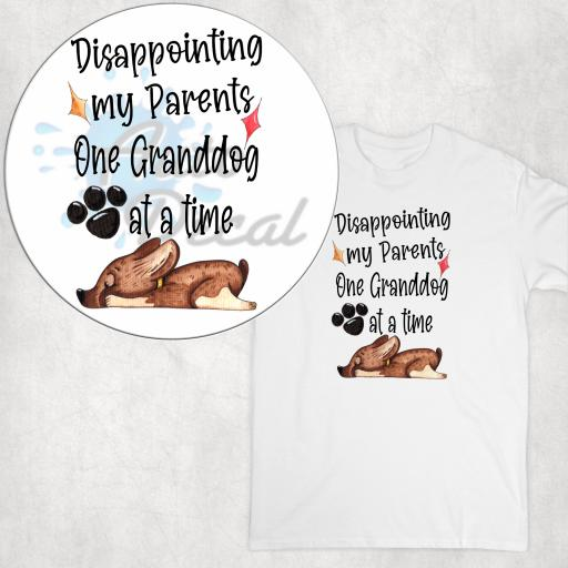 Disappointing my parents one Granddog at a time DTG Clothing