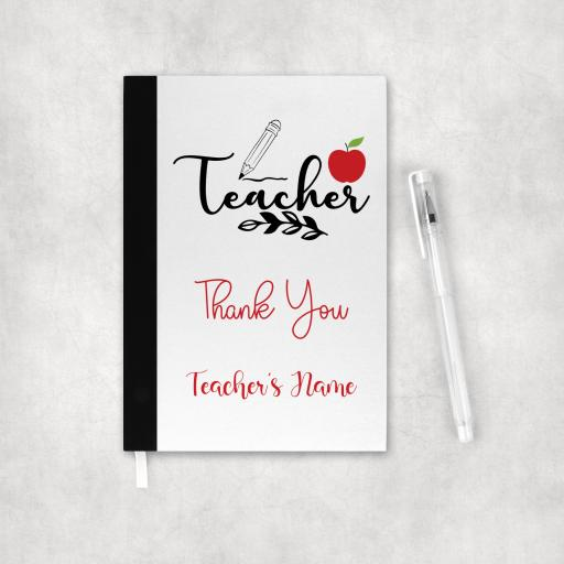 Teacher Thank You Personalised Notebook