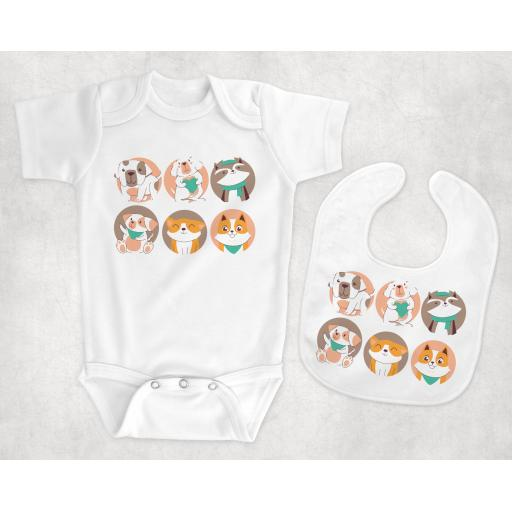 Six Baby Animals Baby Clothing