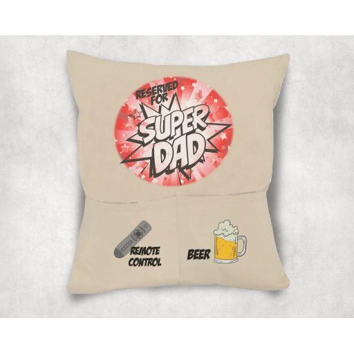 Super Dad 2 Pocket Cushion