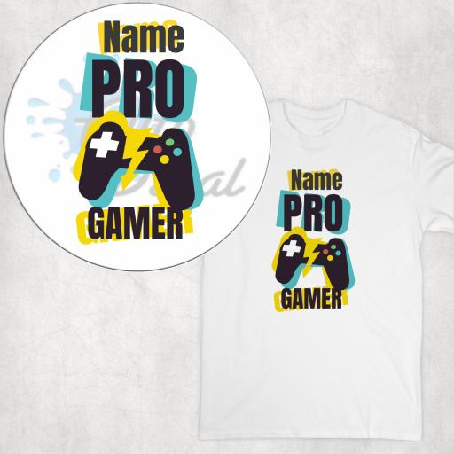 Pro Gamer Personalised DTG Clothing