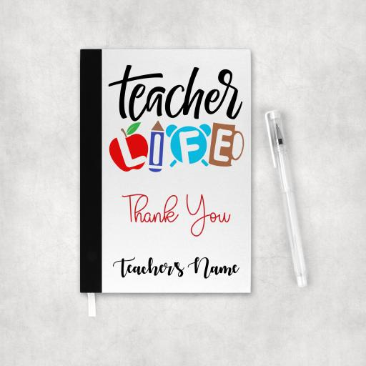 Teacher Life Personalised Notebook