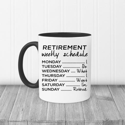 Retirement Weekly Schedule Mug