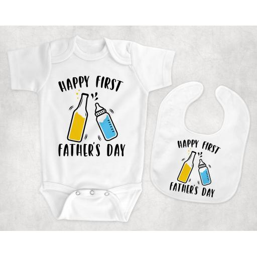 Happy First Father's Day Baby Clothing