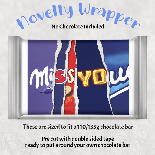 Miss You Chocolate Bar Wrapper