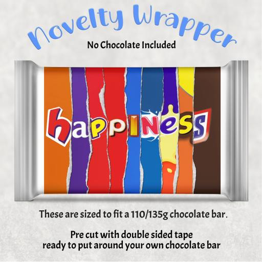Happiness Chocolate Bar Wrapper