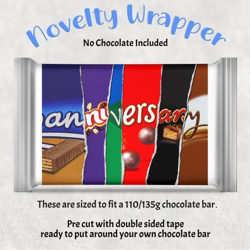 Anniversary Chocolate Bar Wrapper