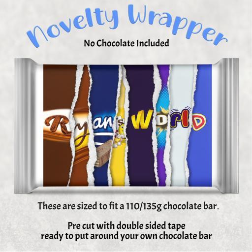Ryan's World Chocolate Bar Wrapper
