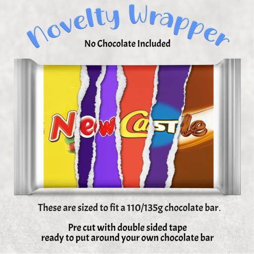 Newcastle Chocolate Bar Wrapper