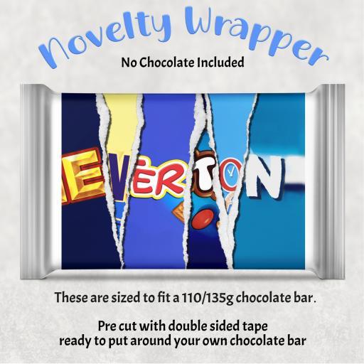 Everton Blue Chocolate Bar Wrapper