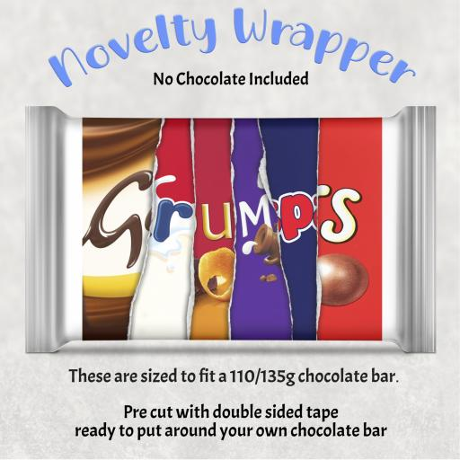 Grumps Chocolate Bar Wrapper
