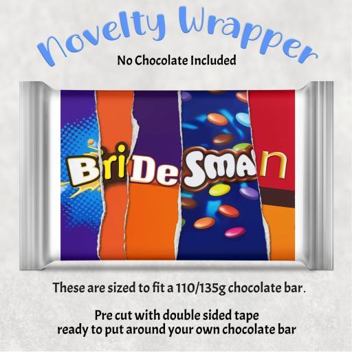 Bridesman Chocolate Bar Wrapper