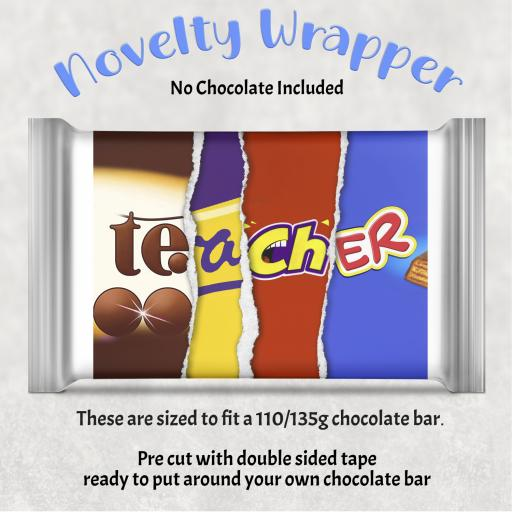 Teacher Chocolate Bar Wrapper