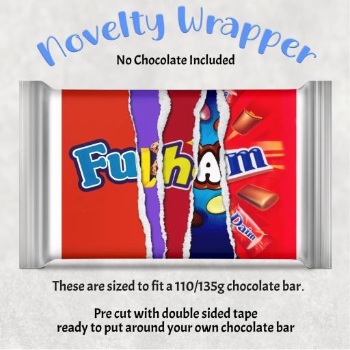 Fulham Chocolate Bar Wrapper