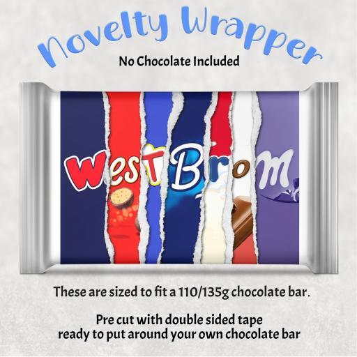 West Brom Chocolate Bar Wrapper
