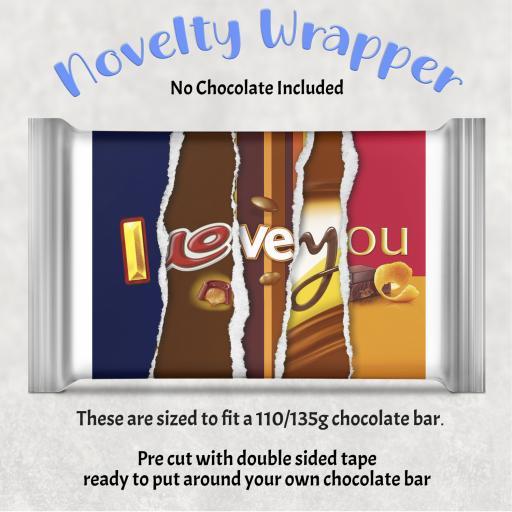 I Love You Chocolate Bar Wrapper