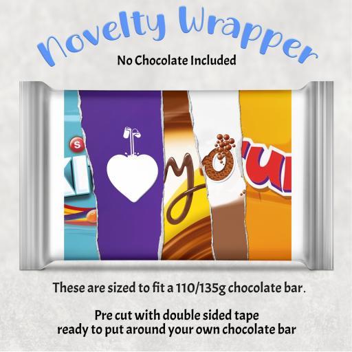 I Love You Chocolate Bar Wrapper 1