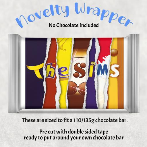 The Sims Chocolate Bar Wrapper