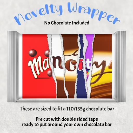 Man City Chocolate Bar Wrapper