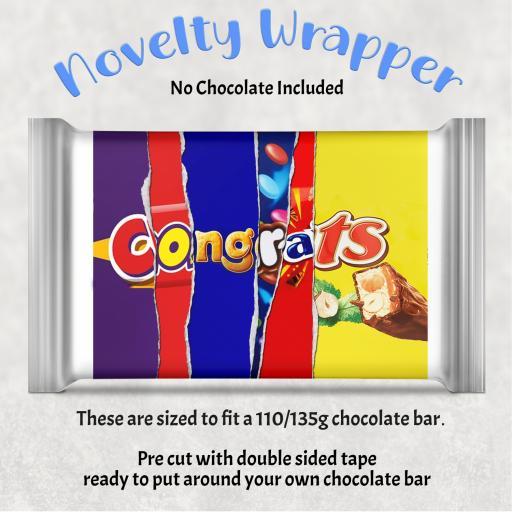 Congrats Chocolate Bar Wrapper