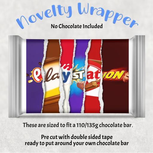 Playstation Chocolate Bar Wrapper