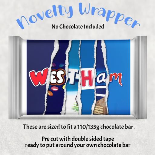 West Ham Chocolate Bar Wrapper