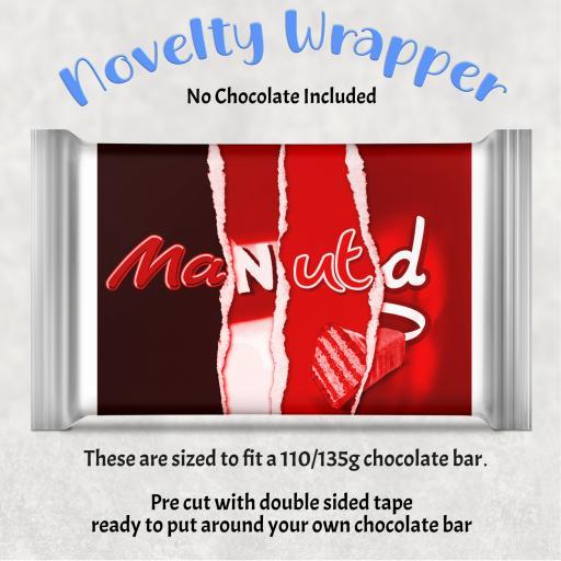 Man Utd 2 Chocolate Bar Wrapper