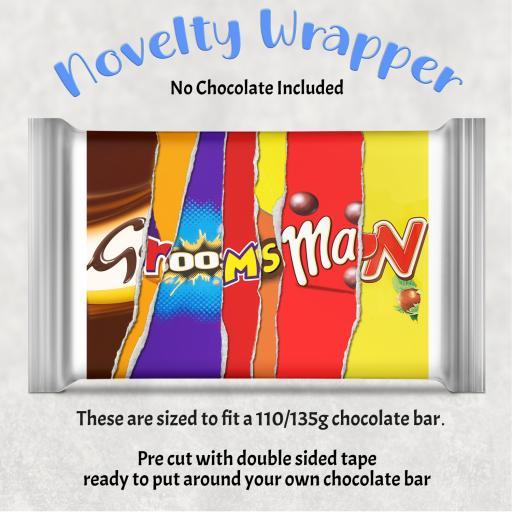 Groomsman Chocolate Bar Wrapper
