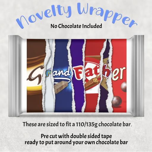 Grandfather Chocolate Bar Wrapper