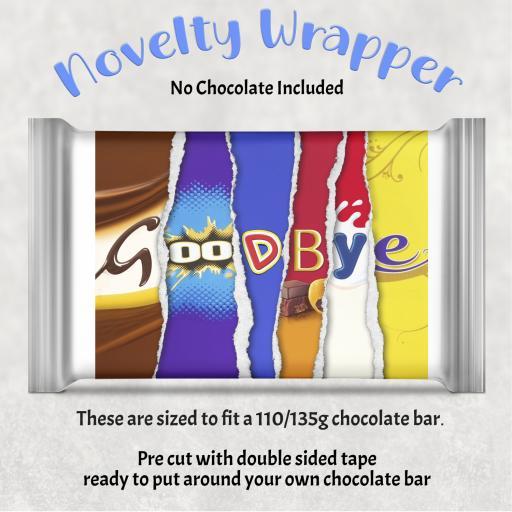 Goodbye Chocolate Bar Wrapper