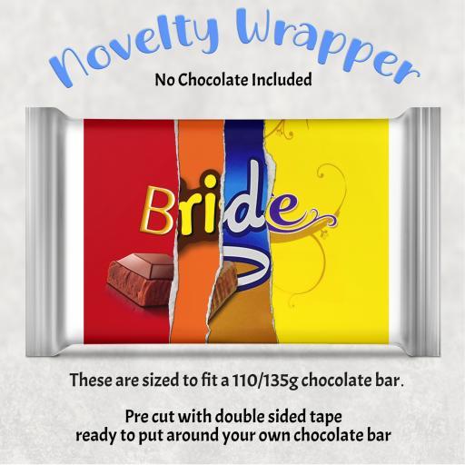 Bride Chocolate Bar Wrapper