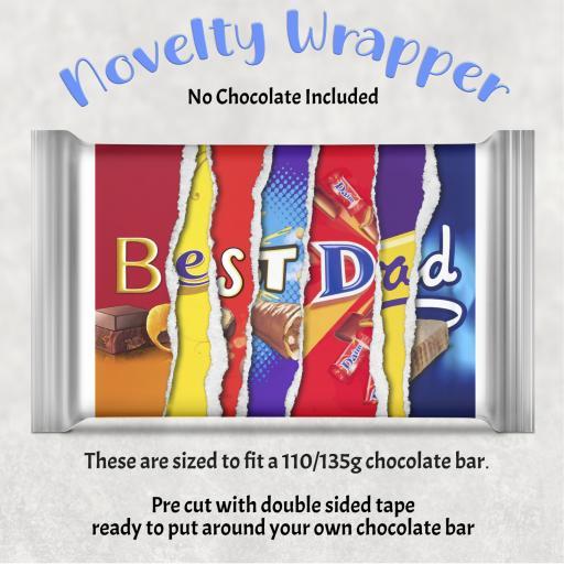 Best Dad Chocolate Bar Wrapper