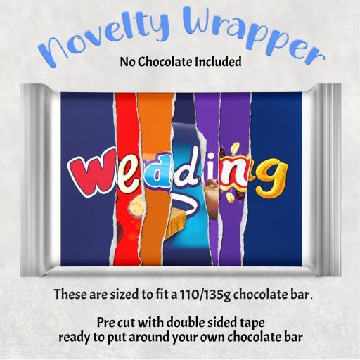 Wedding Chocolate Bar Wrapper